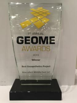 Maccaferri Middle East won the GeoME Awards 2015 - Maccaferri Middle East