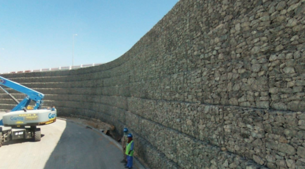 Terramesh Wall in Dubai World Central - Maccaferri Middle East