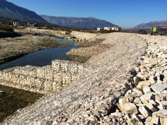 Gabions are star products in an environment oriented project in Gjirokastra