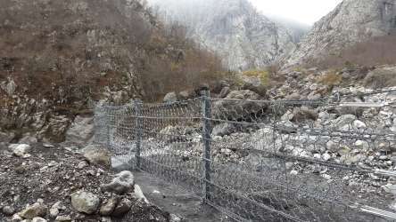 The Debris Flow Barrier 200 DF for Lerini Stream
