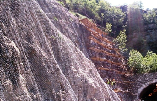 Rockfall protection, section Katlanovo - Veles, Macedonia