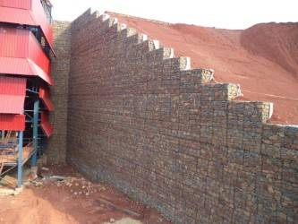 Terramesh crusher wall in Indian mine - Maccaferri Corporate