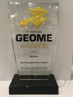 Maccaferri Middle East won the GeoME Awards 2015 - Maccaferri Corporate