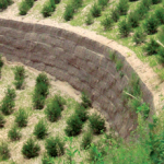 Green Terramesh soil reinforcement
