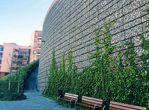 Gabion Used As Arhictectural Wall Solution Maccaferri Iberia