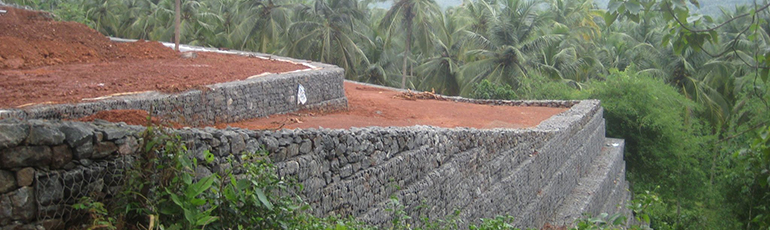 Retaining wall design Maccaferri India