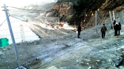 The construction of rockfalls protection - Maccaferri Russia