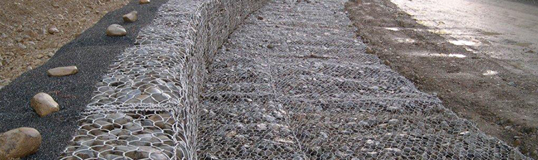 Gabions and Reno mattress bank protection